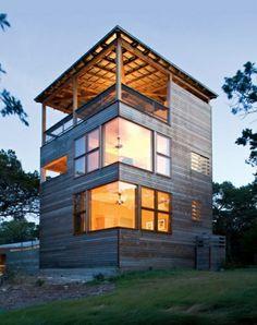 maison cunique avec terrasse de toit
