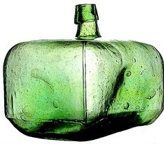 Images, descriptions, and history of demijohns and other wickered bottles for the collector Antique Glass Bottles, Antique Glassware, Vintage Bottles, Bottles And Jars, Antique Shelves, Bohemia Glass, Glass Ceramic, Bottle Design, Glass Collection