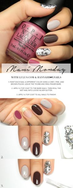 Mani Monday: Fall Sequin Nail Tutorial at LuLus.com!