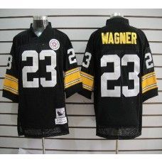 8f3500d4b Mitchell And Ness Steelers  23 Mike Wagner Black Stitched NFL Jersey Air  Jordan Shoes
