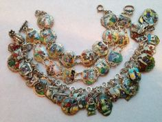 eCharmony Charm Bracelet Collection - Enamel Fairy Tale Shield Charms