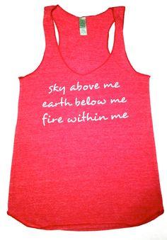 Fire within me // Workout tank // Abundant by AbundantHeartApparel, $26.00