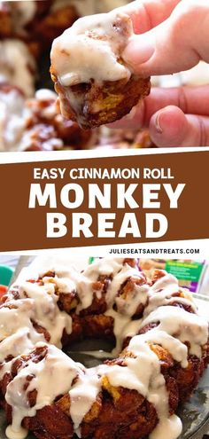 Easy Cinnamon Roll Monkey Bread Easy Cinnamon Roll Monkey Bread Lindsay Life Love and Sugar lifelovesugar Cinnamon Roll Recipes Quick and easy monkey bread nbsp hellip rolls easy Quick Cinnamon Rolls, Cinnabon Cinnamon Rolls, Vegan Cinnamon Rolls, Pumpkin Cinnamon Rolls, Cinnamon Desserts, Cinnamon Recipes, Cinnamon Roll Monkey Bread, Cinnamon Roll Casserole, Cinnamon Roll Pancakes