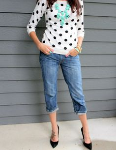 polka dot sweater-- I just found this exact sweater at the thrift store for $5!