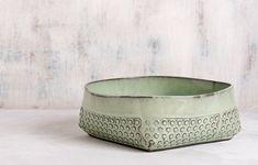 Ceramic Bowl Mint green bowl Ceramic salad bowl by FreeFolding