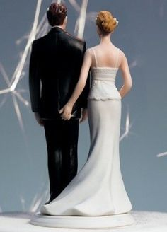 Humorous Wedding Cake Toppers. I would never have this on a cake, but it's funny! No pun intended ;)