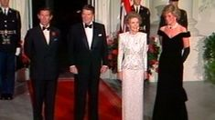 Princess Diana and Prince Charles greet Ronald and Nancy Reagan back in the 1980s.