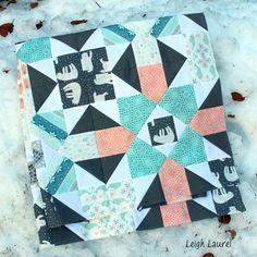 @leighlaurelstudios - Fair isle quilt in the snow - karin jordan