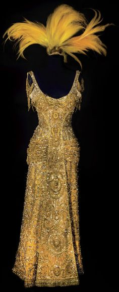 """Costume designed by Irene Sharaff for Barbra Streisand in """"Hello Dolly!"""" (1969).  From Profiles in History"""
