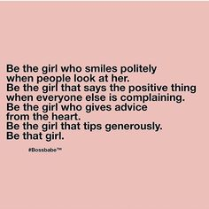 Be that girl