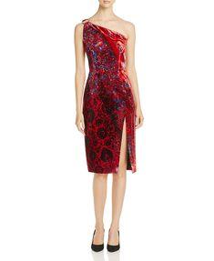 Elie Tahari Carter One Shoulder Velvet Dress - 100% Exclusive | Bloomingdales's