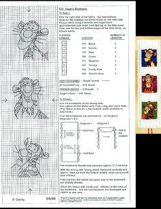 This is a pattern of the Tigger's bookmark of Designer Stitches (09-1998) that is no longer for sale.
