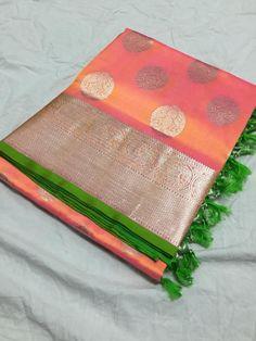 Kanjivaram Sarees Silk, Indian Silk Sarees, Soft Silk Sarees, Cotton Saree, Pattu Saree Blouse Designs, Saree Blouse Patterns, Bridal Blouse Designs, Fancy Sarees Party Wear, Organza Saree