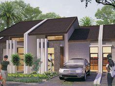 46 Modern Type 36 House Design Ideas - Home-dsgn 4 Bedroom House Designs, Narrow House Designs, Small House Design, Cool House Designs, Modern House Design, Minimalist House Design, Minimalist Home, Small Villa, Little Houses