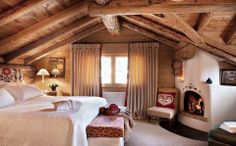 gorgeous log cabin bedroom