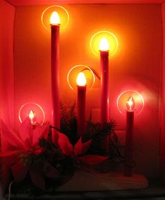 Vintage Christmas Noma 5 candle light halo electric candolier de luxe