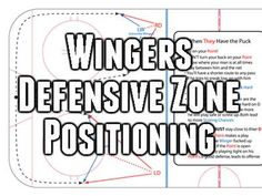 In this article we break down the wingers positioning and responsibilities in the defensive zone. We have 5 easy to understand pictures demonstrating different roles and responsibilities. Hockey Workouts, Agility Workouts, Hockey Drills, Hockey Goalie, Hockey Mom, Hockey Players, Hockey Stuff, Soccer, Dek Hockey