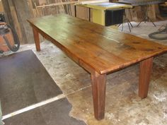 I have a picture out of a rustic harvest table that I want to have built counter height to use as a kitchen island.  I cannot wait to hear back and see if I can afford it!