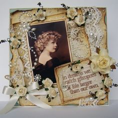 Lovely vintage style card. For My handmade greeting cards visit me at My English Personal blog: http://stampingwithbibiana.blogspot.com/