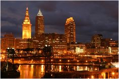 Cleveland | Cleveland at Night. Photo Courtesy of Cleveland State University.org