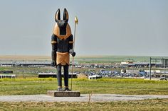 What is an Egyptian God Of The Dead Statue Doing At Denver Airport?!