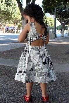 Rebel Girl Party Dress PDF Sewing Pattern open back dress low back dress girls dress pattern trendy baby clothes sewing pattern Girls Party Dress, Little Girl Dresses, Baby Dress, The Dress, Dress Party, Dress Girl, Party Gowns, Toddler Dress, Girl Dress Patterns