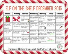 Lots of Elf on the Shelf ideas