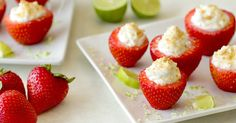 Healthy 15-Minute-or-Less Desserts: Key Lime Strawberries, Deconstructed Blueberry Lemon Cheesecake