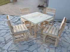 Pallet table and chairs | 1001 Pallets