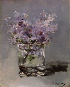 Edouard Manet (1832-1883) Lilacs in a Glass 1882.