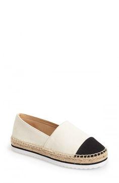 Kensie Women's Ladonna Sneaker Sole Espadrille Platform Flats 8 5 Beige | Footwear
