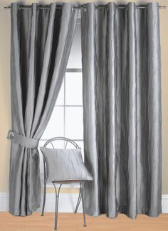Make your Room Look Classy and Expensive With Silver Curtains Ready Made Eyelet Curtains, Blackout Eyelet Curtains, Faux Silk Curtains, Lined Curtains, Cheap Bed Linen, Cheap Bed Sheets, Luxury Bedding Collections, Luxury Bedding Sets, Silver Curtains