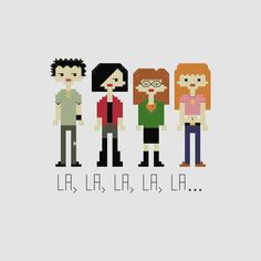 Daria Cross Stitch Pattern by YouMakeMeSewHappy on Etsy, $4.99