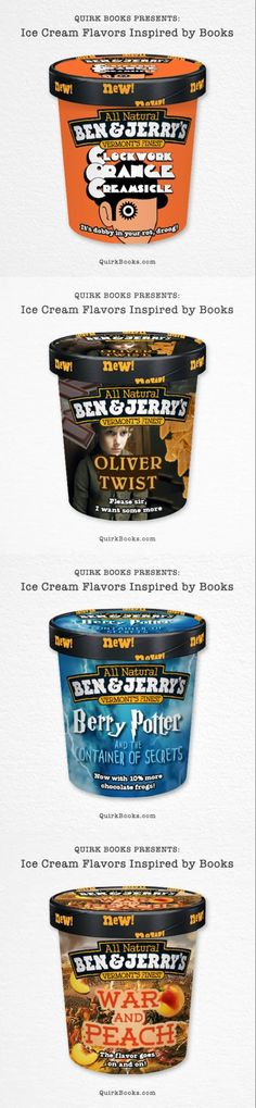 Ice Cream.......I don't like product placement but they really deserve a gold star for brilliance