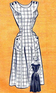 1950s Dress Pattern Anne Adams 4523 Womens Yoked by paneenjerez