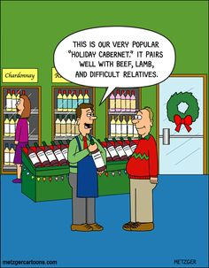Holiday wine! | The Bent Pinky on GoComics.com #humor #comics