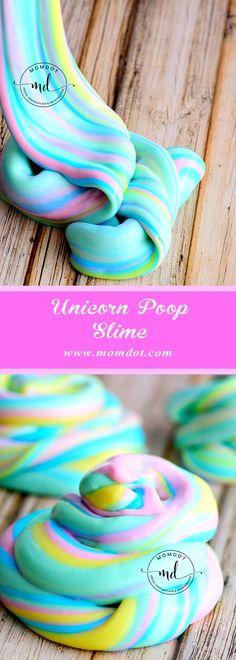 Unicorn Poop Slime Recipe - Best DIY Slime MomDot
