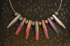 Sunset Clothespin Necklace-front, full. Page McNall