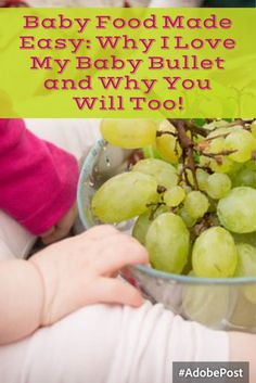 Store bought baby food can contain some weird ingredients.  So we decided to…