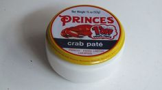 Princes Crab Pate was a treat for high days and holidays, and came in a little glass jar Retro Recipes, Vintage Recipes, Vintage Food, Retro Food, 1970s Childhood, My Childhood Memories, Childhood Toys, Old Sweets, Food Advertising