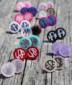$5.99 | Personalized Monogram Glitter Earrings! | Shop boutique deals on Jane.com