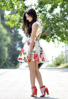 hot floral summer dress