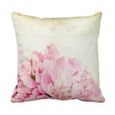 Vintage elegant rustic beige victorian textile throw pillows