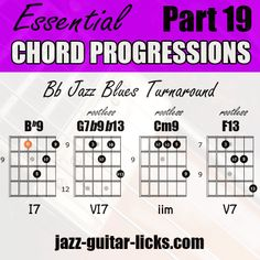 Jazz Chord Changes - Turnaround with Shapes - Infographics Jazz Guitar Lessons, Acoustic Guitar Chords, Guitar Chords Beginner, Guitar Chords For Songs, Music Chords, Guitar For Beginners, Music Lessons, Ukulele, Art Lessons