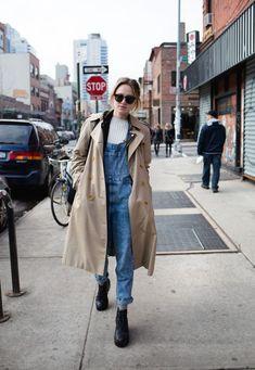 ILikeItThatWay - new york - street style - denim - trench coat