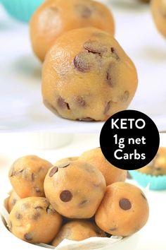 Keto Cookie Dough, Keto Cookies, Cookies Et Biscuits, Keto Biscuits, Keto Pancakes, Low Carb Desserts, Low Carb Recipes, Dessert Recipes, Cooking Recipes