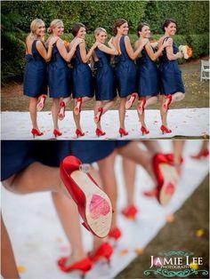 Sapphire bridesmaids!