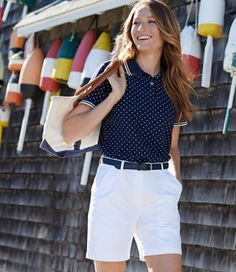 Premium Double L® Polo, Relaxed Fit Short-Sleeve Dot - LL Bean Intl
