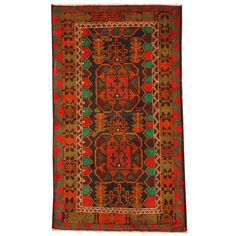 Herat Oriental Semi-antique Afghan Hand-knotted Tribal Balouchi / Red Rug