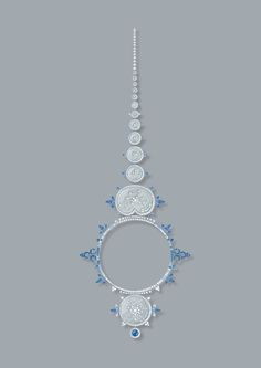 Ricochet necklace - Drawing #revesdailleurs #highjewelry #boucheron